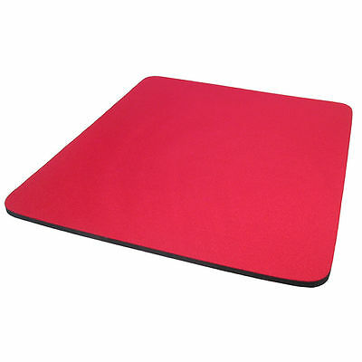 NEW SEALED RED Mouse Mat 4mm Foam Backed FAST FREE POSTAGE