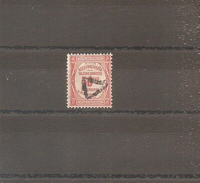 Timbre France Frankreich 1908 Taxe N°47 Oblitere Used Cote 70 Euros