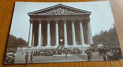 1928 Postcard - Paris - Policeman - Motor Cars