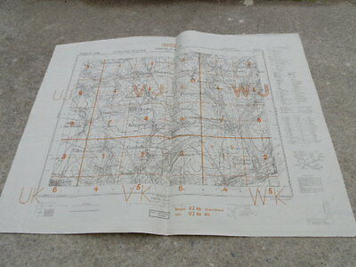 Ww2 Original German Wehrmacht 1943 Military Map France Front Abbeville