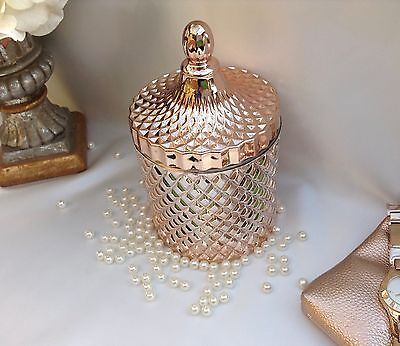 Scented Soy Wax Candle Jar | 80 hours | Rose Gold  - XLARGE   | J Serenity |