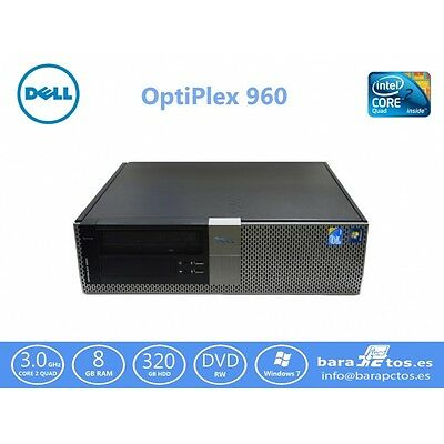 Dell Optiplex 960 Core 2 Quad Q9650 3.0 Ghz  320 Gb Sata 8 Gb Dvd-Rw W7