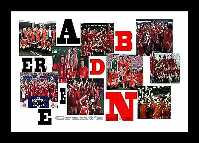 Aberdeen FC collage (2) print or canvas print