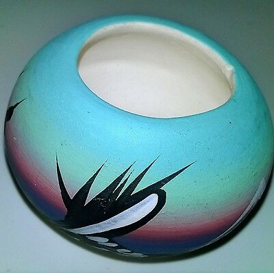 Vintage Trinket Box Hand Painted And Signed