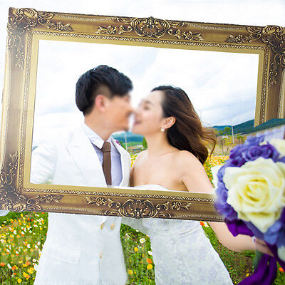 Photo Booth Props Antique Frame Wedding Birthday Holiday Party Fun 48cm x 35cm