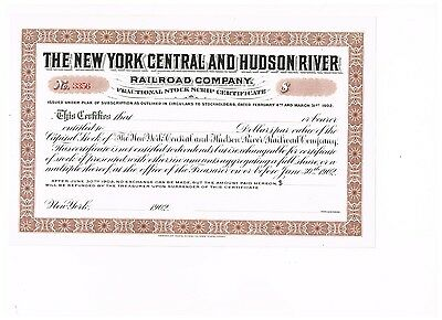 The New York Central and Hudson River RR Co., 1902, unissued