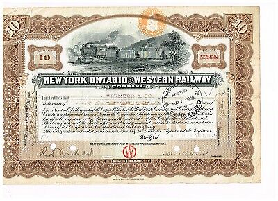 New York, Ontario and Western Railway Co., 1919