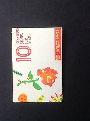 GB QEII 1989 FY1 Greetings Stamp Booklet Mint. Contains 10 stamps at 19 pence.