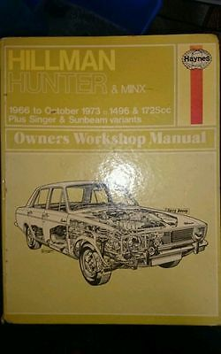 Haynes manual #33 HILLMAN & VARIANTS (HUNTER & MINX)