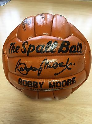 Bobby Moore Autograph Football - Signed By The 1968 Liverpool Team