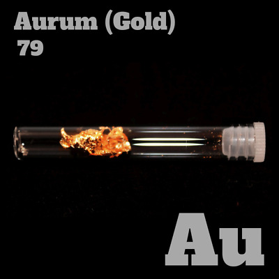Gold metal 79 Au - 99,9% pure Element Sample - periodic table Metall - Gold foil