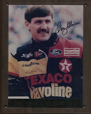 Davey Allison Autograph Wall Plaque Nascar Ford The Scan You See is What You Get