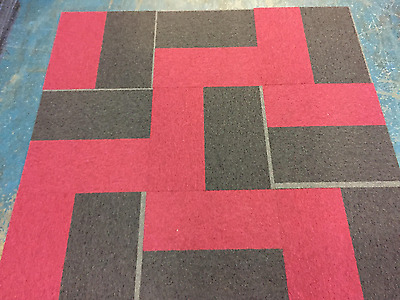 carpet tiles patch work very funky red blacl