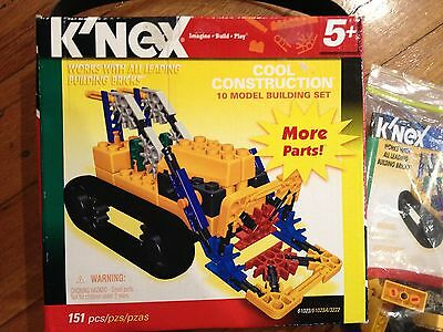 K'NEX Building Model Set - 10 model - 151 pieces