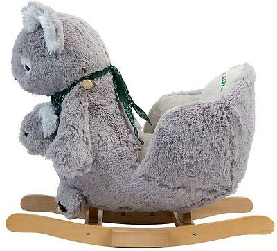 Constructed & Handcrafted Rocking Koala with Joey For 12 Months & Up