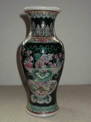 19th c Chinese Famille Noire Vase