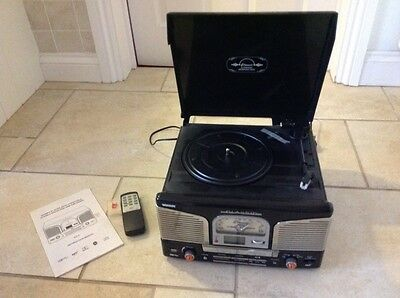 CD/MP3 Player with Turntable, Stereo Radio and USB Encoding
