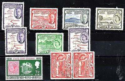 STAMPS FROM St KITTS/NEVIS/ANGUILLA 1952.