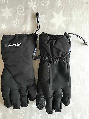 Bnwot Trekmates Beacon Dry Black Gloves Mens Size M/l