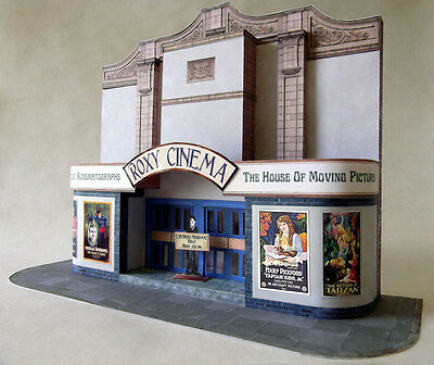 7mm Scale Roxy Cinema / Movie House Low Relief Card Kit Suitable for O Gauge NEW