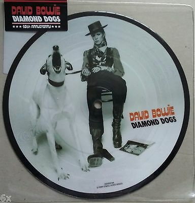 "DAVID BOWIE - DIAMOND DOGS -  40th ANNIVERSARY 7"" PICTURE DISC - MINT! UNOPENED!"