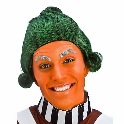 Adult Short Green Umpa Lumpa Factory Worker Oompa Loompa Fancy Dress Costume Wig