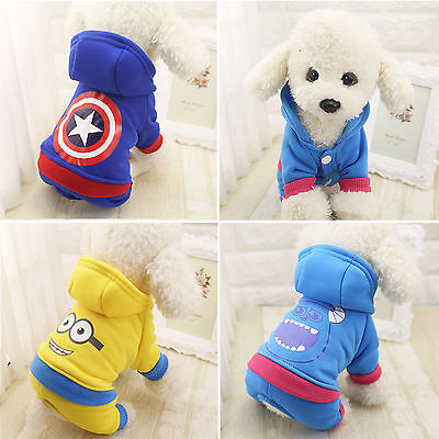 Pet Puppy Dog Warm Hoodie Coat Sweater Jumpsuit Doggy Clothes Costume Apparel