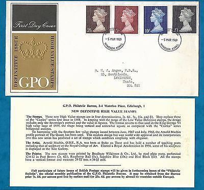 1969 High Value Definitives Gb First Day Cover