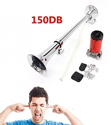 AUDEW 150DB Super Loud 12V Single Trumpet Air Horn Compressor Truck Car Van