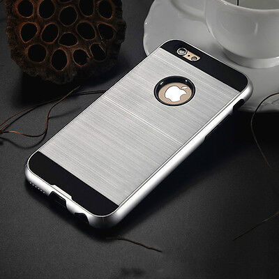 Anti-shock Hard Back Silver Hybrid Armor Case Cover For Iphone 6 6s {mr6