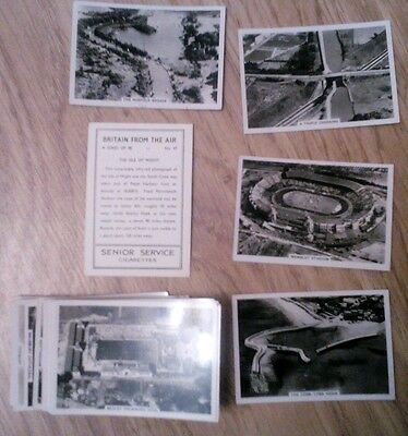 """Complete Set Of 48 Senior Service """"britain From The Air"""" Cigarette Cards"""