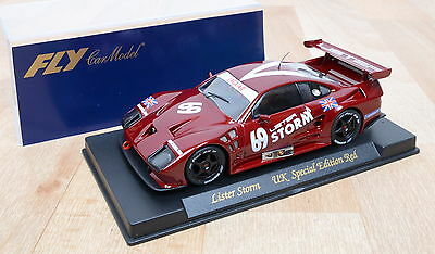 FLY Ref. E101 Slotcar Lister Storm UK Special Edition Red / unbespielt / 1:32