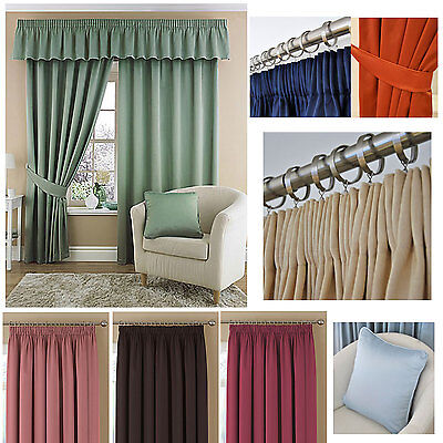 """Tessa Pencil Pleat LINED Curtains 12 COLOURS 3"""" Great Choice of Curtains - SMART"""