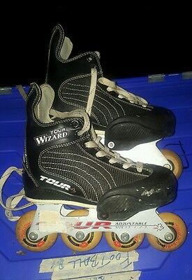 tour wizard size 13-3 inline hockey skates