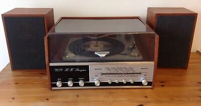 Vintage Spinney Hi Fi Stereogram / Record Player With  Speakers