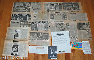 THE ROLLING STONES 1981 Tattoo You MSG Meadowlands Tour 19pc Article Press Lot