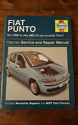 HAYNES Service and Repair Manual FIAT PUNTO Oct 99 to Jul 03 Petrol