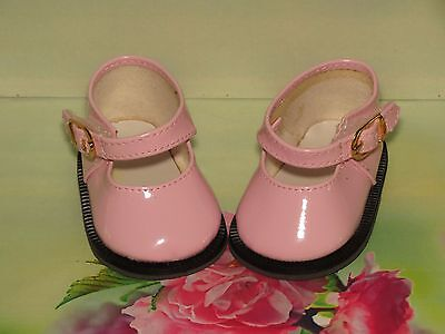 Shoes To Fit The Galoob Baby Face American Girl Doll Pink Shiny Maryjane