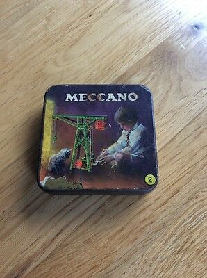 Vintage Meccano Tin No 2 With Nuts & Bolts