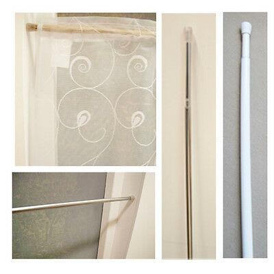 Tension twist and fit extendible rods, spring loaded white,chrome,brass *SALE*