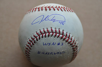Jacob deGrom Mets - Career Win # 3 Game Used Thown (MLB Authenticated) Signed