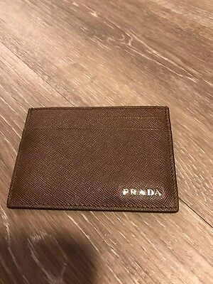 New Prada Milano Saffiano Leather Card Holder Msrp $240