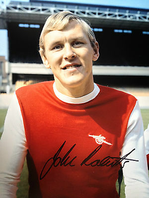 John Roberts - Late Great Arsenal Legend -  Stunning Signed Colour Photograph