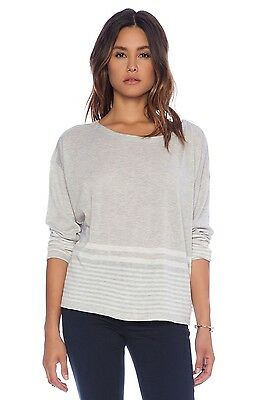 NWT Soft by Joie Carter Grey Stripe Wool Blend Sweater M