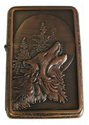 Wolf Design Star Petrol Lighter In Gift Tin