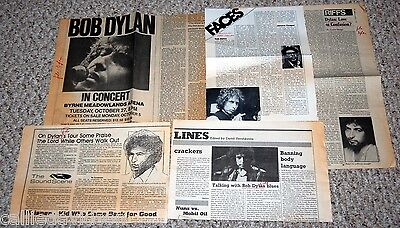 BOB DYLAN 1980-1981 4pc Article + NY Times Concert Ad Lot