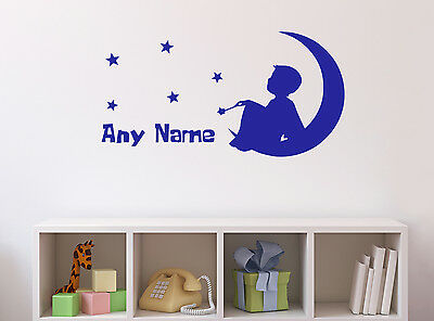 Personalised Dreaming Boy Vinyl Wall Sticker Home Mural Decor Room Decal Art