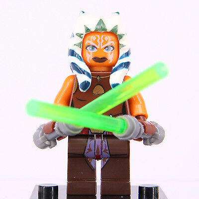 Star Wars Asoka Tano Super Hero Mini Figure Fits With Lego Building Toy