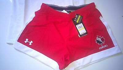 2016 Under Armour Men's Rugby Canada Short GameDay Issue Red Sz S M L XL $75 CDN
