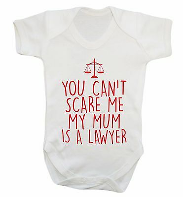 my mum is a lawyer, baby vest Mother's Day birthday baby shower crown court 1044